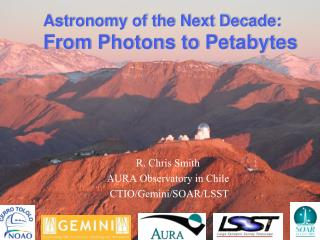 Astronomy of the Next Decade: From Photons to  Petabytes