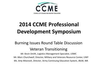 2014 CCME Professional Development Symposium