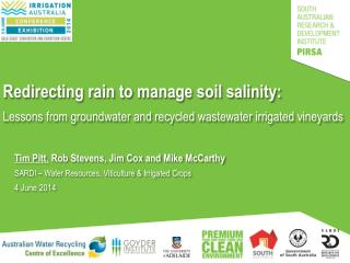 Redirecting rain to manage soil salinity: Lessons from groundwater and recycled wastewater irrigated vineyards