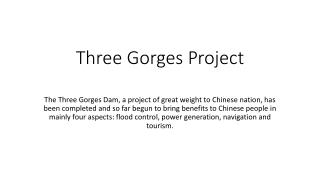 Three Gorges Project