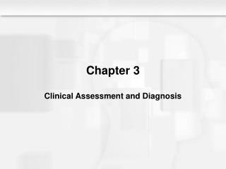 Chapter 3 Clinical Assessment and Diagnosis