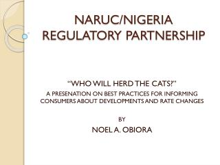 NARUC/NIGERIA REGULATORY PARTNERSHIP