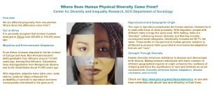 Where Does Human Physical Diversity Come From?