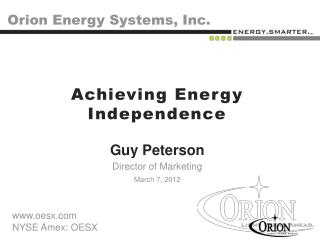 Orion Energy Systems, Inc.