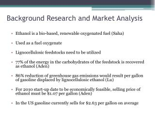 Background Research and Market Analysis