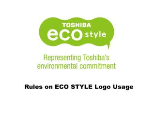 Rules on ECO STYLE Logo Usage