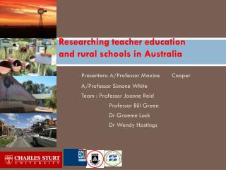 Researching teacher education and rural schools in Australia