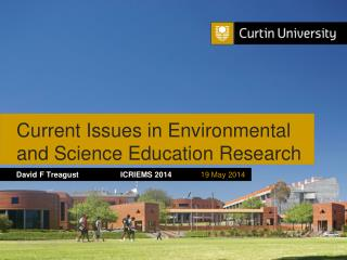 Current Issues in Environmental  and Science Education Research