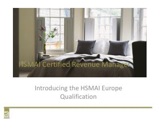 HSMAI Certified Revenue Manager