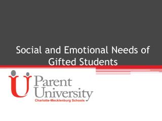 Social and Emotional Needs of Gifted Students