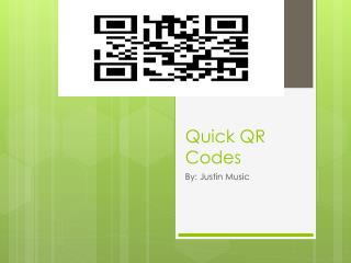 Quick QR Codes