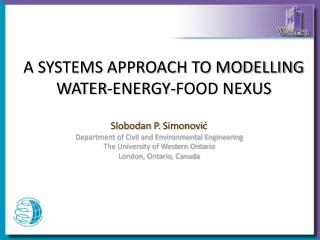 A SYSTEMS APPROACH TO MODELLING WATER-ENERGY-FOOD NEXUS