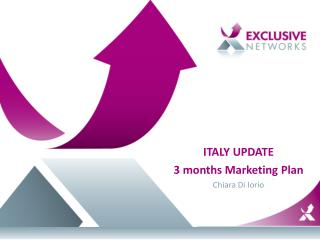 ITALY UPDATE 3  months Marketing  Plan Chiara Di Iorio