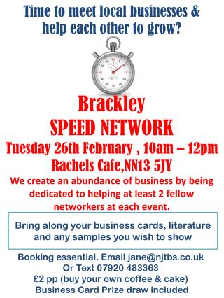 Bring along your business cards, literature and any samples you wish to show