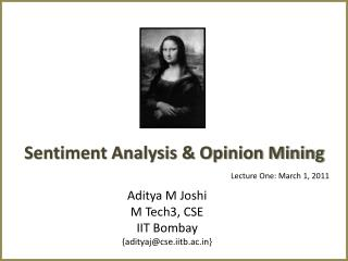 Sentiment Analysis & Opinion Mining