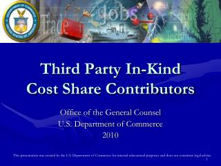 Third Party In-Kind  Cost Share Contributors