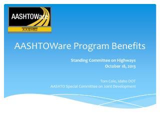 AASHTOWare Program Benefits