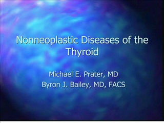 nonneoplastic diseases of the thyroid