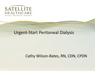 Urgent-Start Peritoneal Dialysis