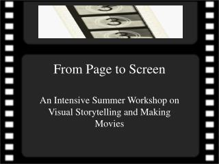 From Page to Screen