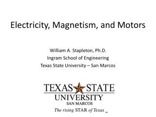 Electricity, Magnetism, and Motors