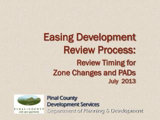 Pinal County Development Services Department of Planning & Development