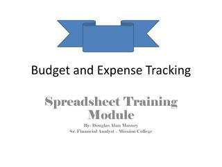 Budget and Expense Tracking