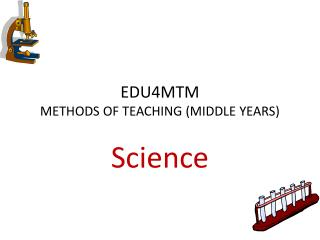 EDU4MTM  METHODS OF TEACHING (MIDDLE YEARS)