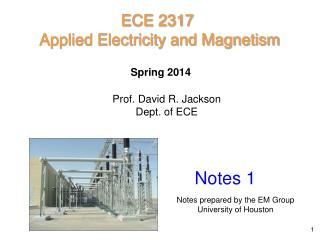 ECE  2317 Applied Electricity and Magnetism