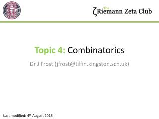 Topic 4:  Combinatorics