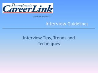 Interview  Guidelines