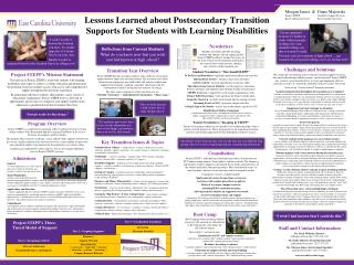 Lessons Learned about Postsecondary Transition Supports for Students with Learning Disabilities