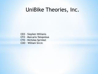 UniBike Theories, Inc.