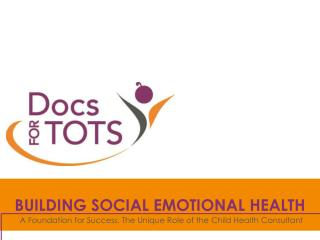 BUILDING SOCIAL EMOTIONAL HEALTH