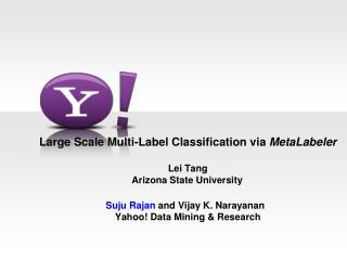 Large Scale Multi-Label Classification