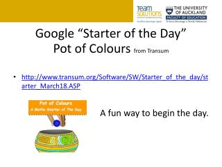 "Google ""Starter of the Day"""