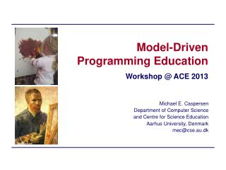 Model-Driven Programming Education