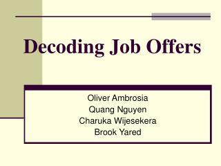Decoding Job Offers