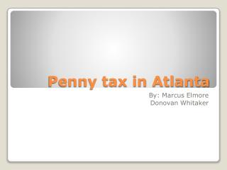 Penny tax in Atlanta