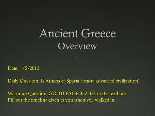 Ancient Greece Overview
