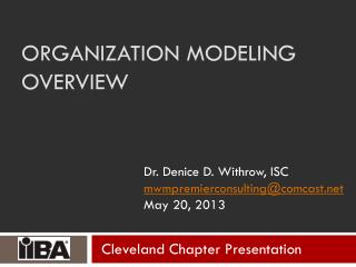 Organization Modeling Overview