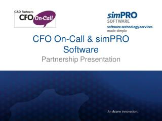 CFO On-Call &  simPRO  Software