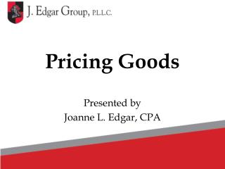 Pricing Goods