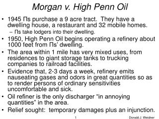 Morgan v. High Penn Oil