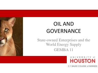 OIL AND GOVERNANCE