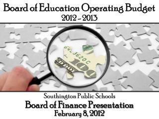 Board of Education Operating Budget