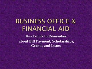 Business Office & Financial Aid
