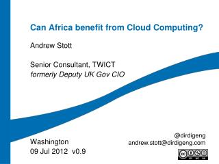 Can Africa benefit from Cloud Computing?