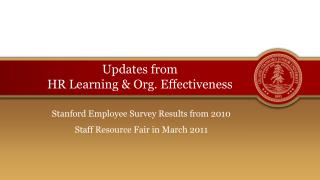 Updates from  HR Learning & Org. Effectiveness