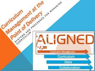 Curriculum Management at the Point of Delivery